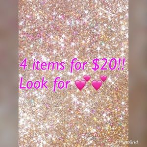 All items with 💕 in description are 4X$20